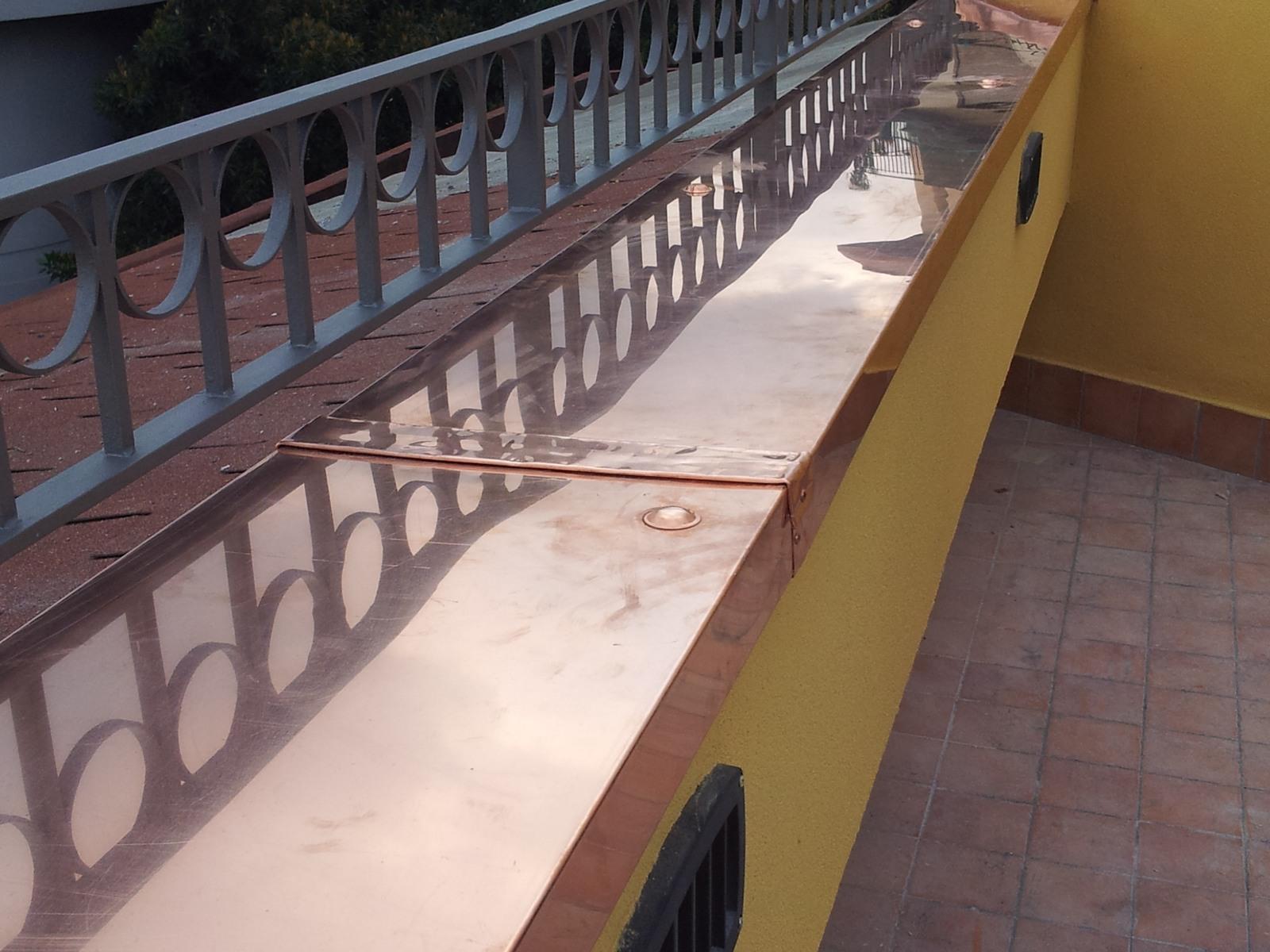 Lavorazioni in rame grondaie catania for Installazione di condotte idriche in rame